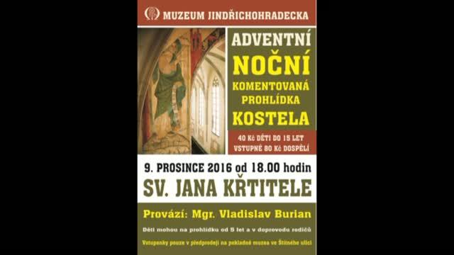 Kostel sv. Jana Křtitele chystá adventní komentovanou prohlídku